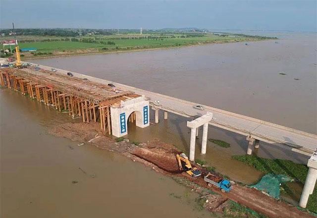 枞阳县乌金渡新大桥建设最新进展