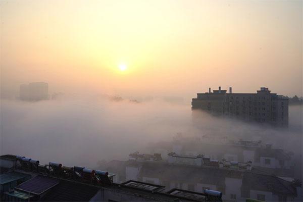 云雾缭绕 宛如仙境